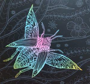 虫のスクラッチアート