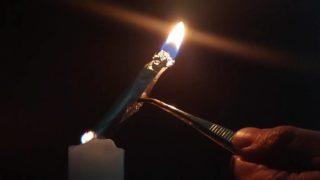 燃えるアルミ