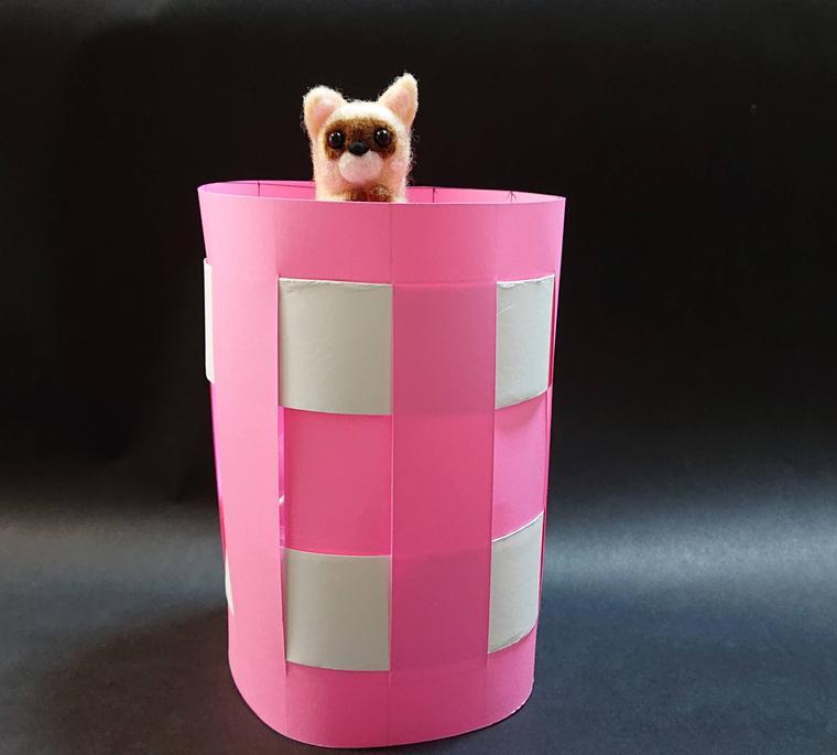 画用紙ペットボトル花瓶