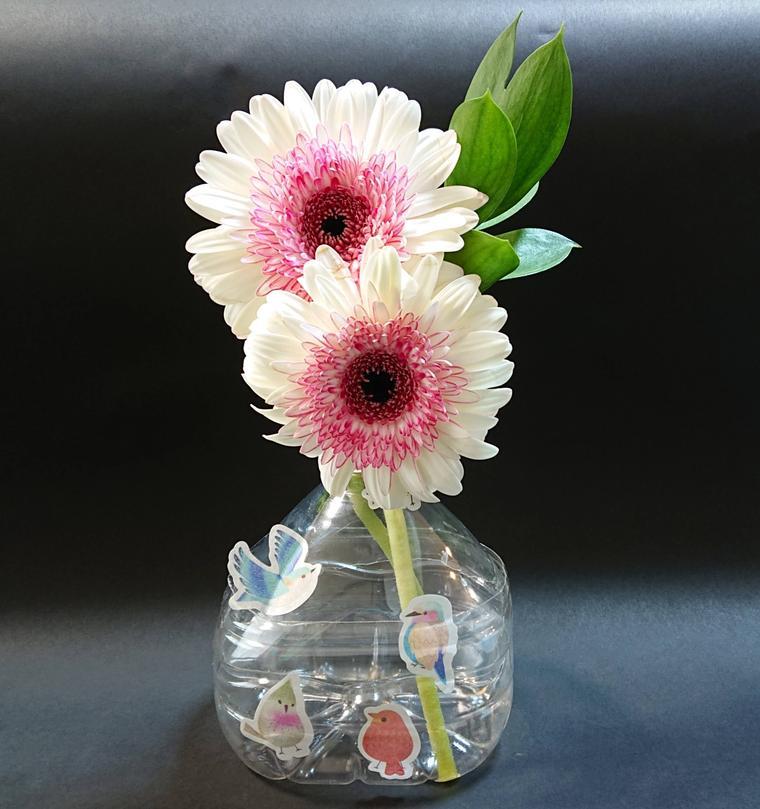 シールペットボトル花瓶