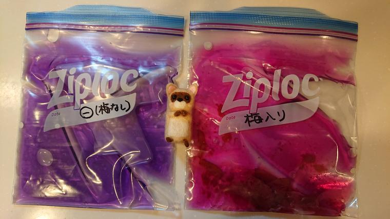 紫キャベツ液2色