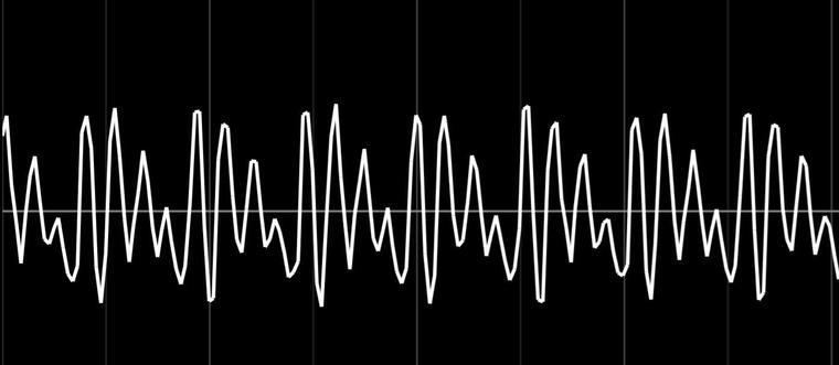 オシロスコープの波形「あ」